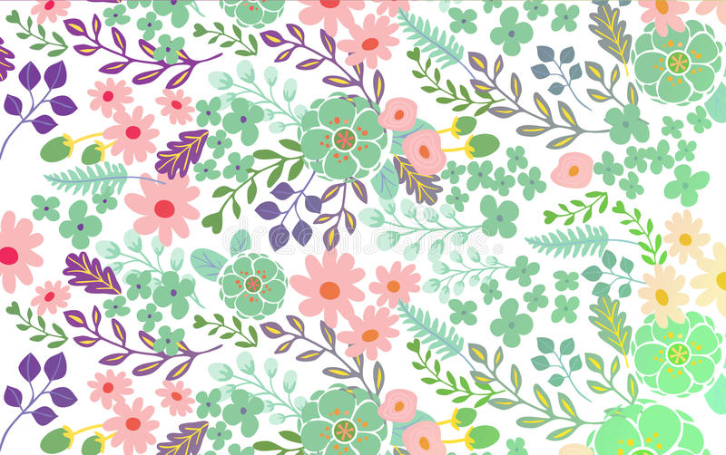 Beautiful abstract floral background stock illustration