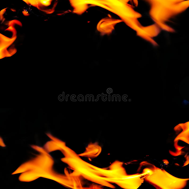 Beautiful abstract frame with flame royalty free stock photography