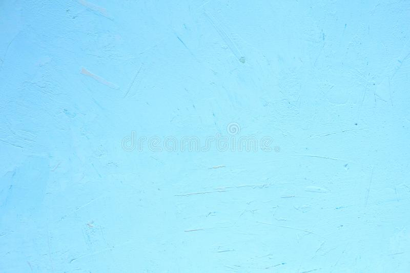 Beautiful Abstract Grunge Decorative Light Blue Cyan Painted Stucco Wall Texture royalty free stock photography