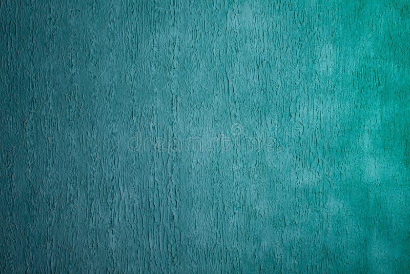 Beautiful Abstract Grunge Decorative Light Blue Cyan Painted Stucco Wall Texture stock image