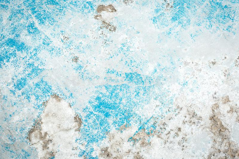 Beautiful Abstract Grunge Decorative Light Blue Cyan Painted Stucco Wall Texture. Handmade Rough Winter Christmas Paper Wide royalty free stock photography