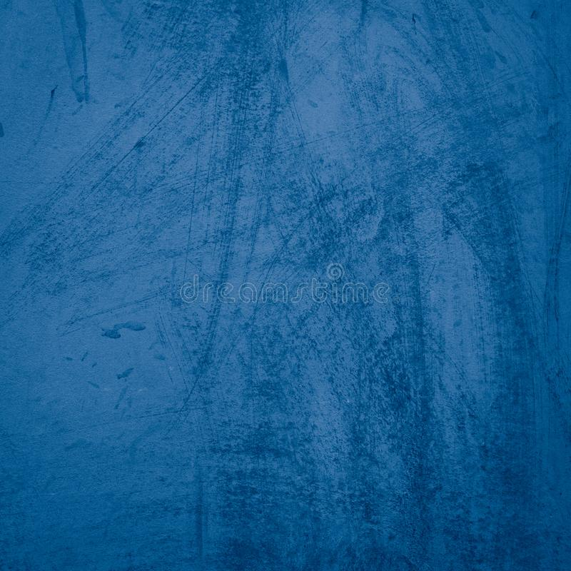 Beautiful Abstract Grunge Decorative Navy Blue Dark Stucco Wall stock images