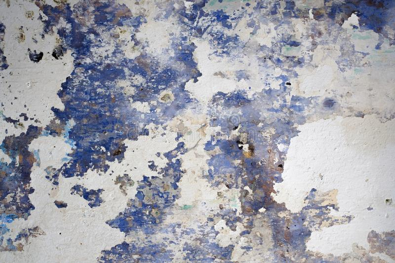 Beautiful Abstract Grunge Decorative Navy Blue White Wall Background. stock photo