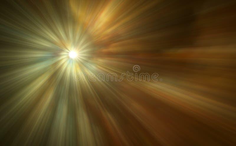 Beautiful Abstract Light Rays stock illustration
