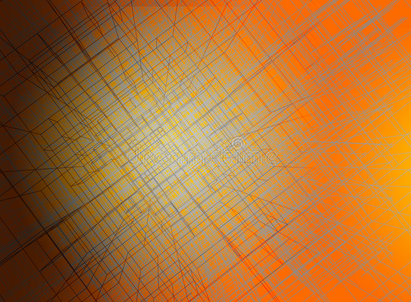 Beautiful abstract linear wire frame background stock illustration