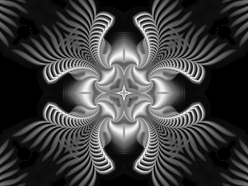 Beautiful abstract logo made in a futuristic style consisting of spirals and with a star in the center vector illustration