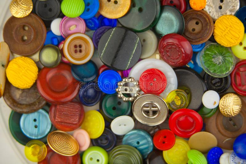 Beautiful abstract sewing background of buttons. Beautiful bright abstract sewing background of buttons royalty free stock photo