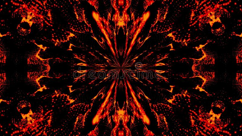 Beautiful abstract symmetry kaleidoscope, 3d rendering backdrop, computer generating royalty free illustration