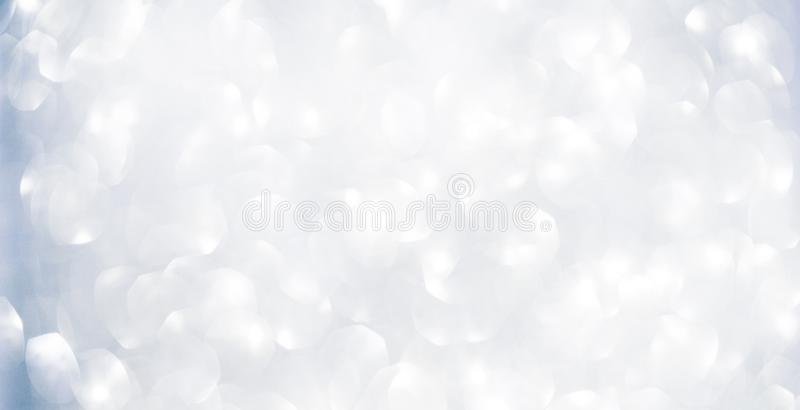 Beautiful abstract white and blue Bokeh Background stock photo
