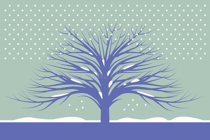 Beautiful abstract winter landscape royalty free illustration