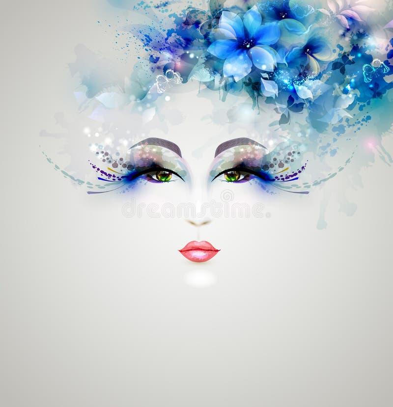 Beautiful abstract women vector illustration