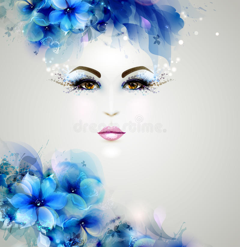 Beautiful abstract women royalty free illustration