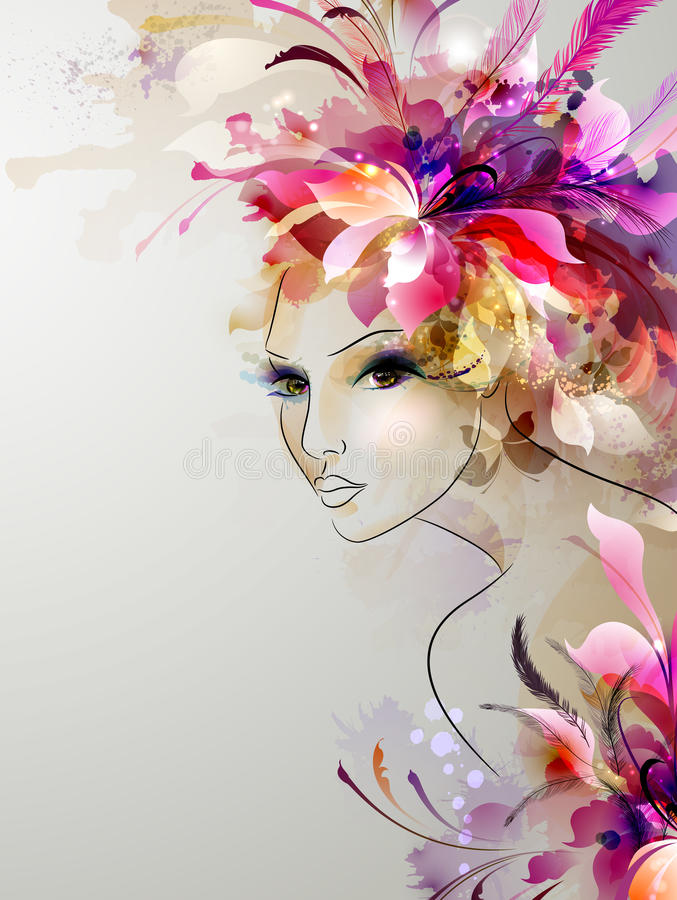 Beautiful abstract women royalty free illustration