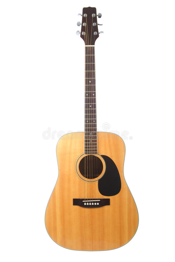 Free Beautiful Acoustic Guitar Isolated On White Royalty Free Stock Images - 13153139