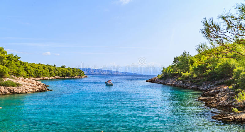 Beautiful adriatic rocky coastline royalty free stock photography