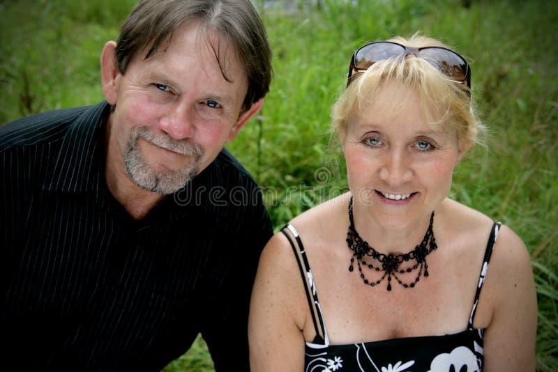 Beautiful adult couple portrait