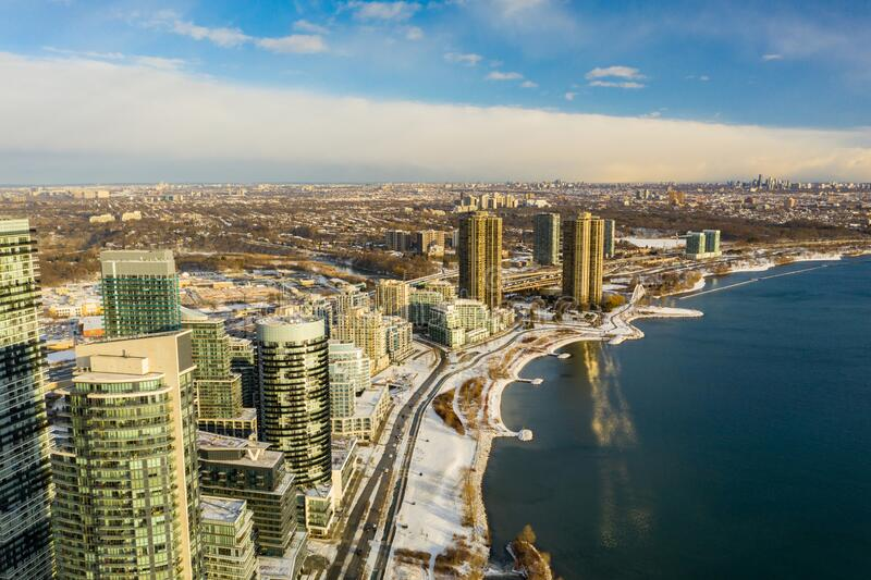 Beautiful aerial photo toronto Canada. USA royalty free stock images