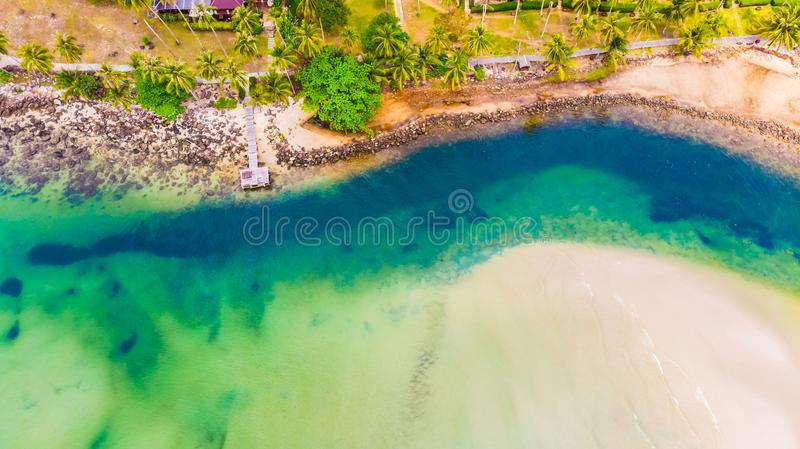 Aerial view of sea stock photo