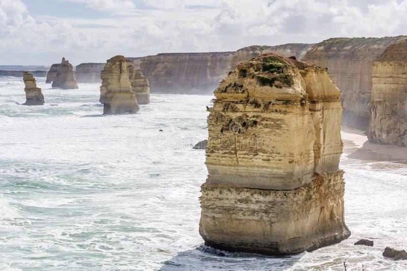 Beautiful aerial view of the Twelve Apostles, Great Ocean Road, Australia. Oceania stock photo