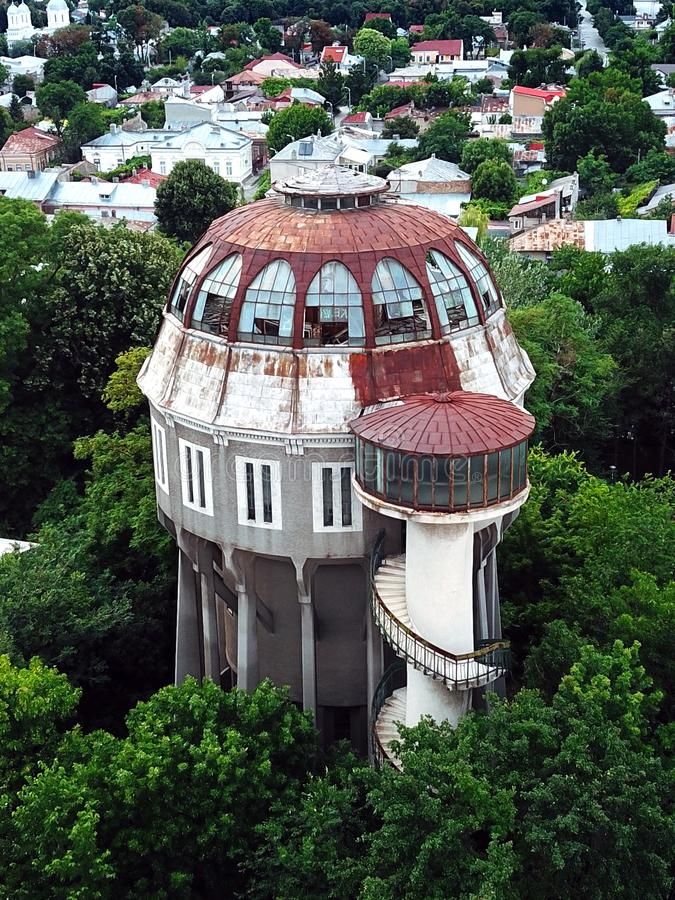 Beautiful Aerial View Of The Water Tower From Braila Romania. In July 2019 royalty free stock photos