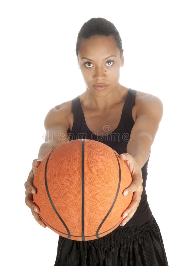 Free Beautiful African American Basketball Player Royalty Free Stock Photo - 9845495
