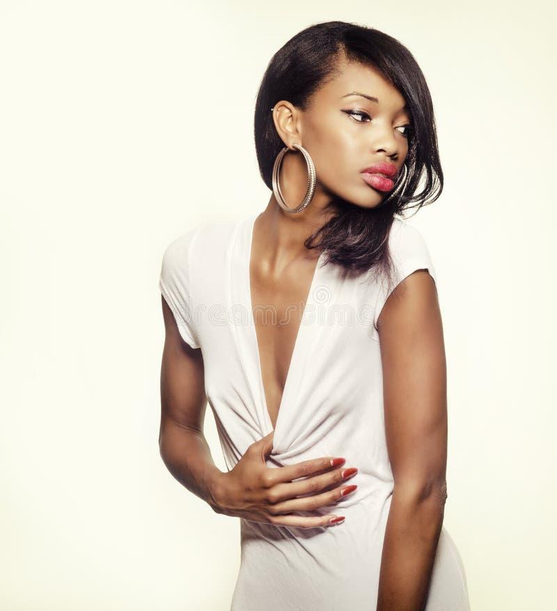 Beautiful African American fashion model royalty free stock photos