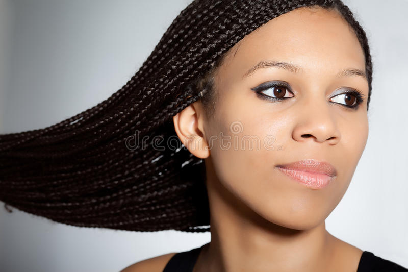 Beautiful African-American girl stock image