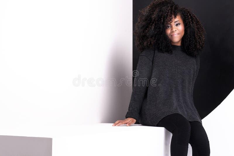 Beautiful african american girl posing. stock image