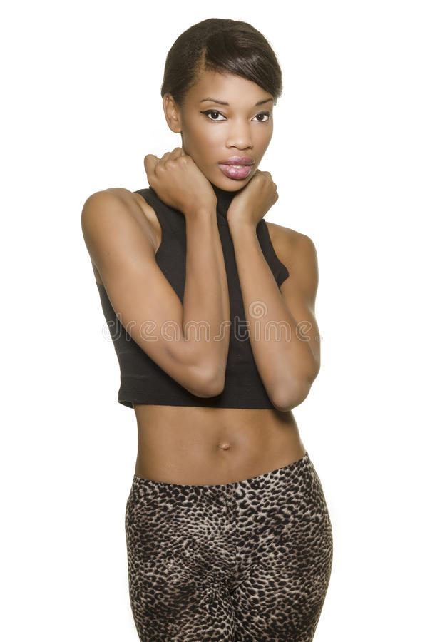 Beautiful African American model stock photography