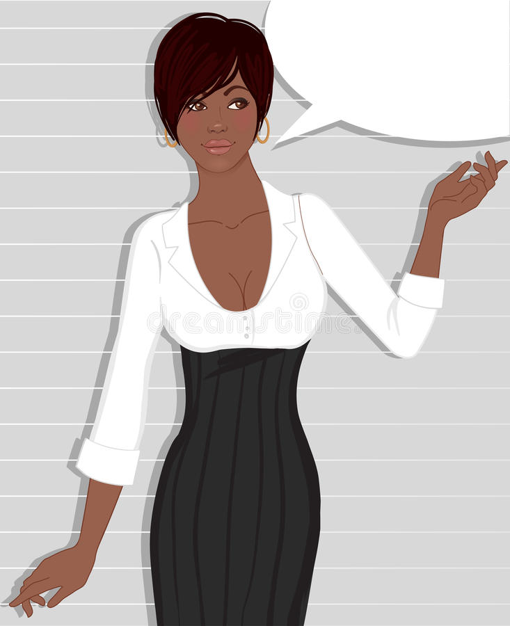 Beautiful African American woman royalty free illustration