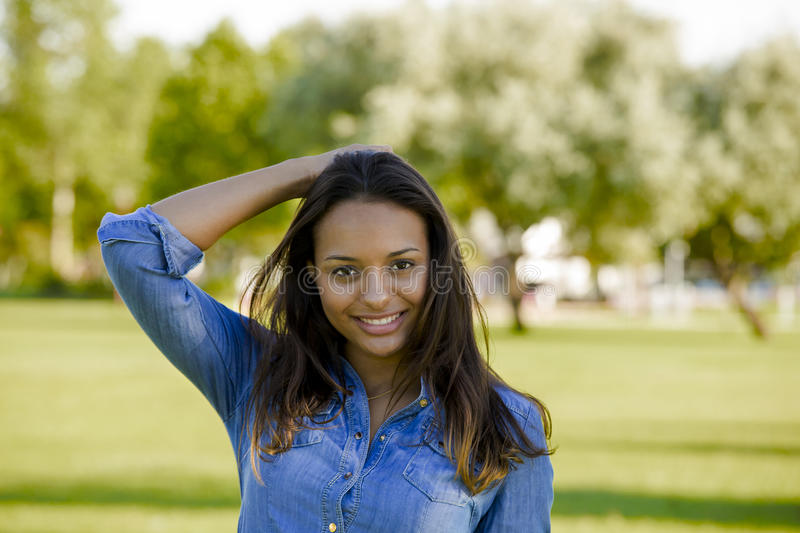 Beautiful African American woman stock photography