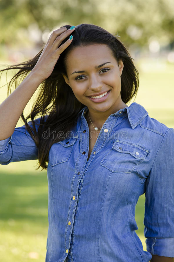 Beautiful African American woman stock photo