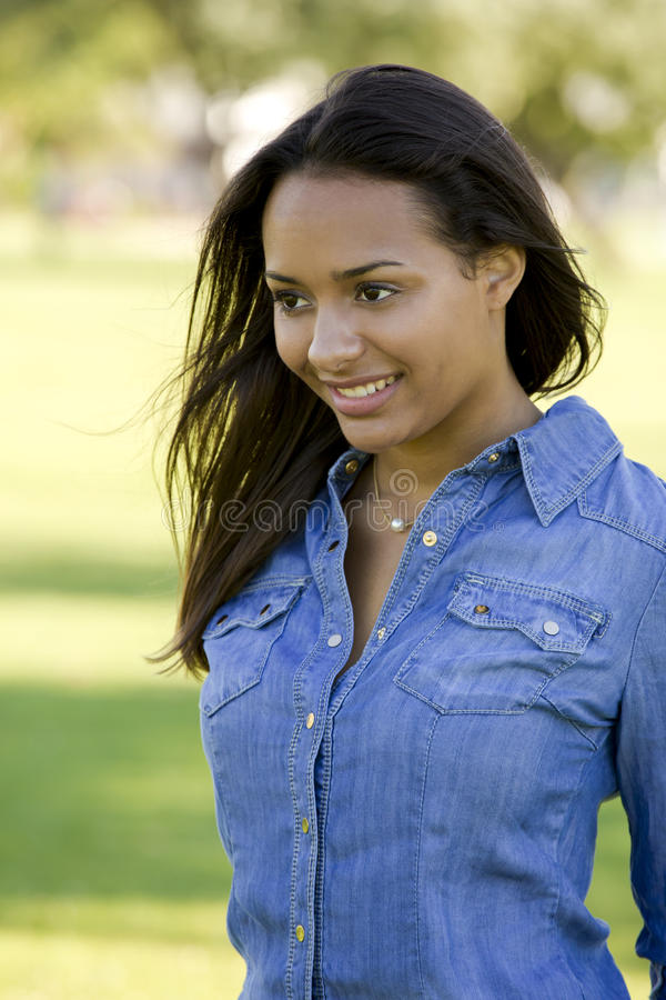 Beautiful African American woman royalty free stock images