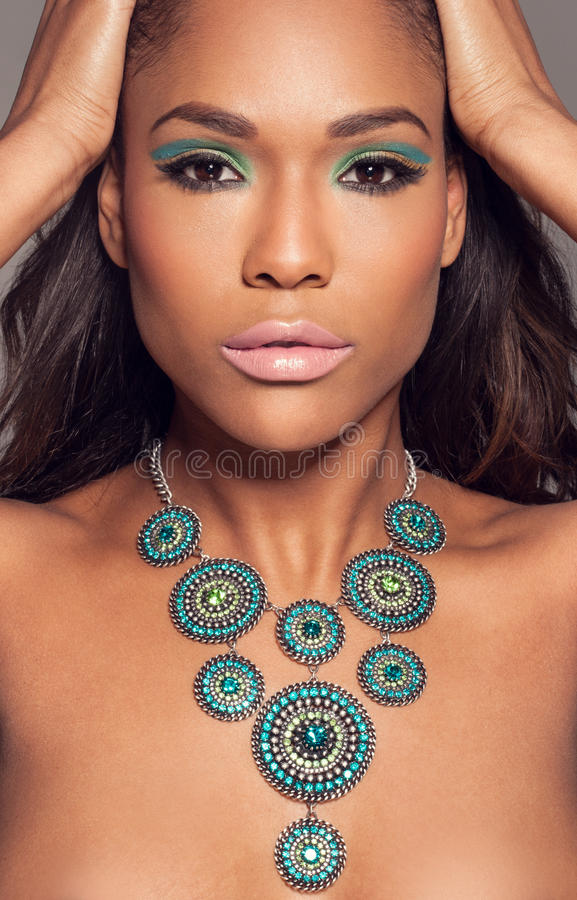 Beautiful African fashion model stock images