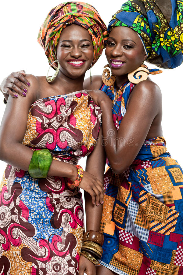 Beautiful African fashion models. royalty free stock photography