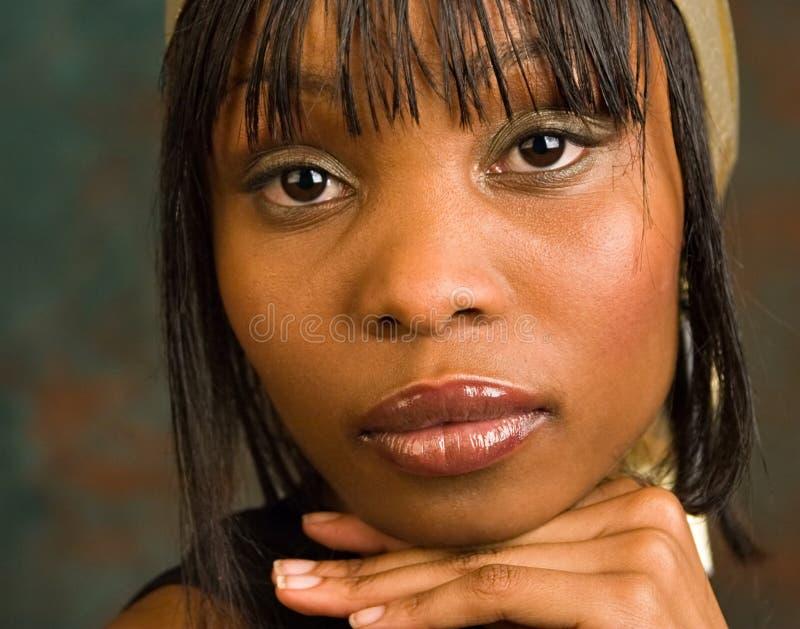 Beautiful African girl stock photo