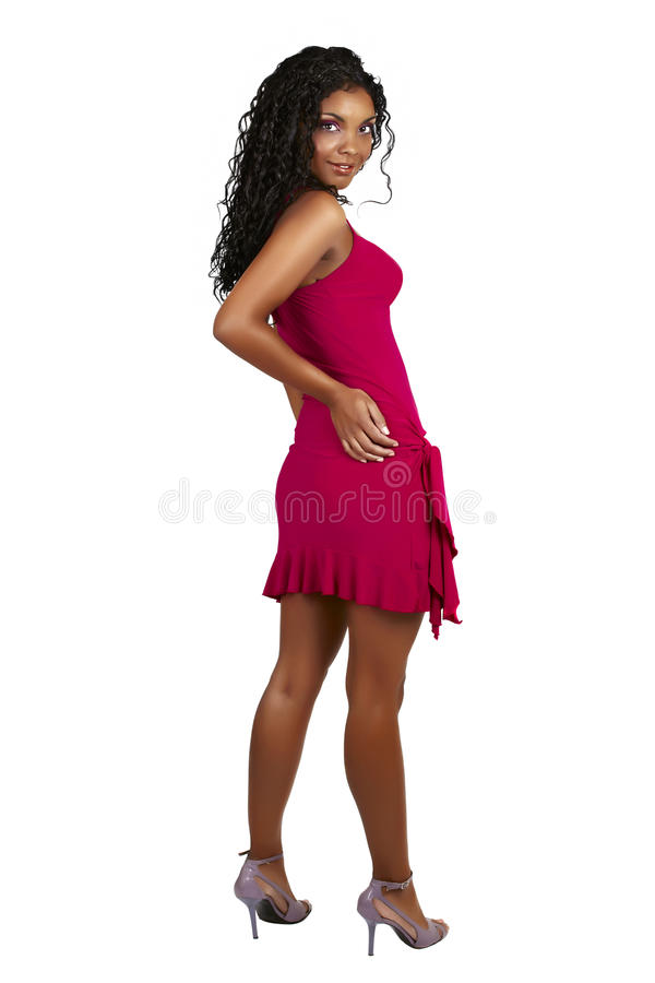 Beautiful African woman with curly hair royalty free stock photos
