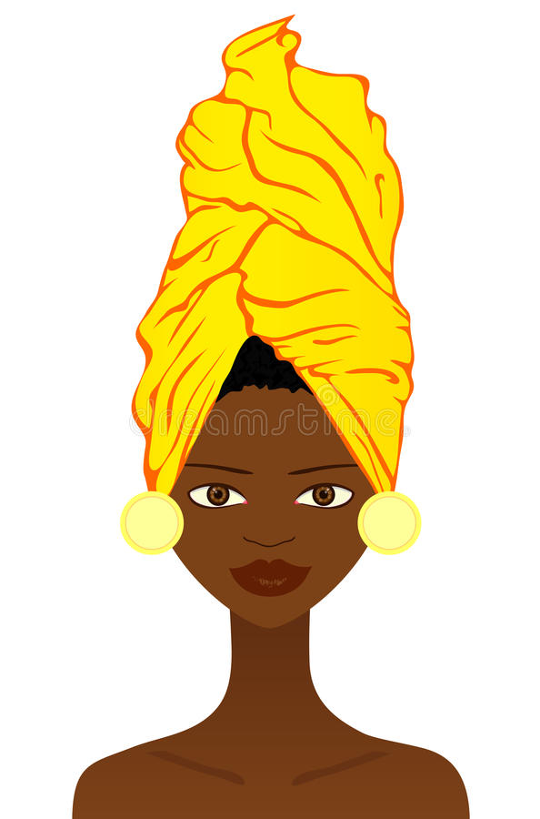 Download Beautiful  African Woman With Traditional Headgear Stock Vector - Image: 23938162