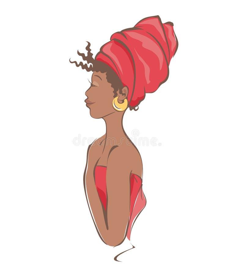 Download Beautiful African Woman Stock Vector - Image: 83707318