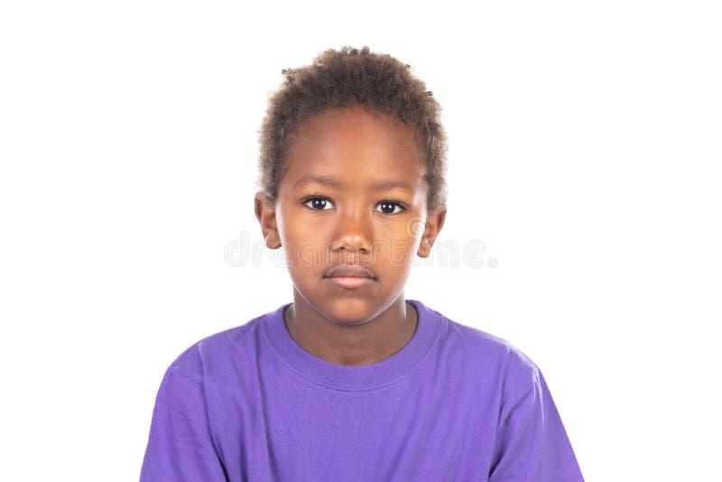 Beautiful Afro-American boy royalty free stock photo