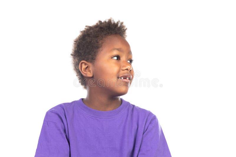 Beautiful Afro-American boy stock photography