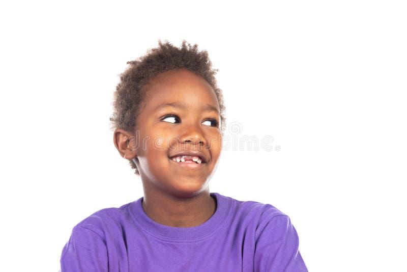 Beautiful Afro-American boy royalty free stock photos