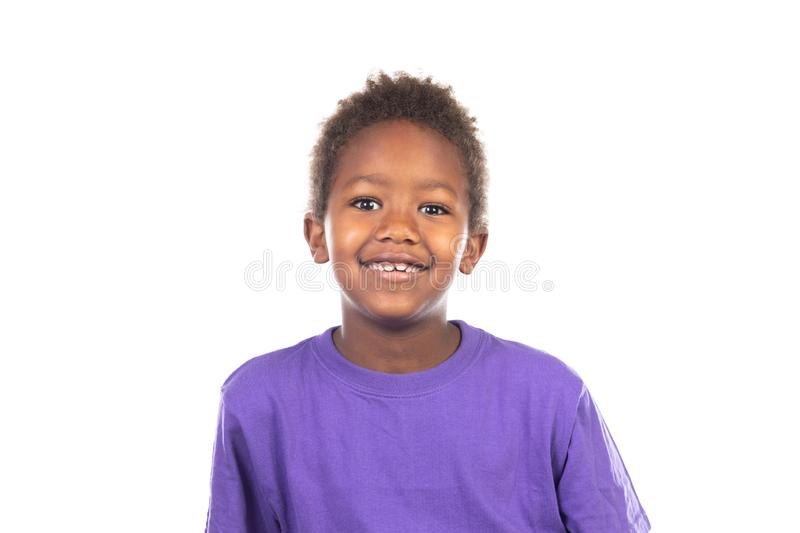Beautiful Afro-American boy royalty free stock images