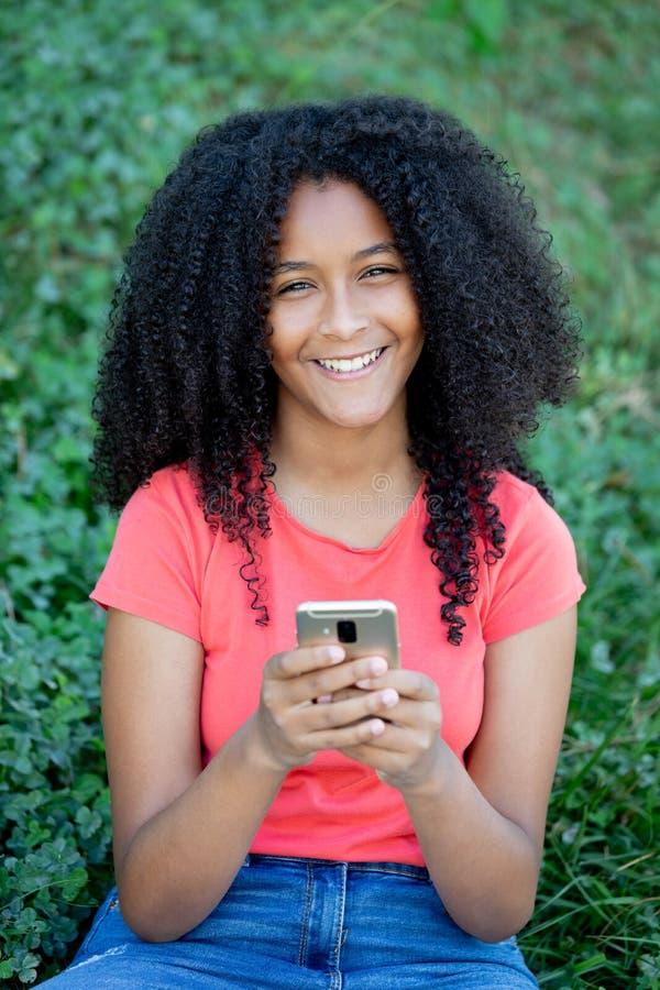 Beautiful afro teenager girl stock photos