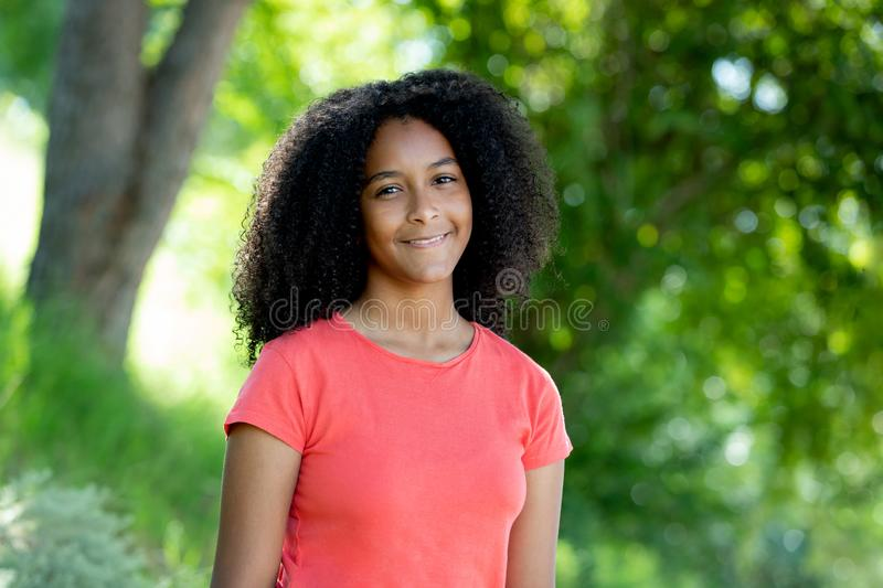 Beautiful afro teenager girl royalty free stock images
