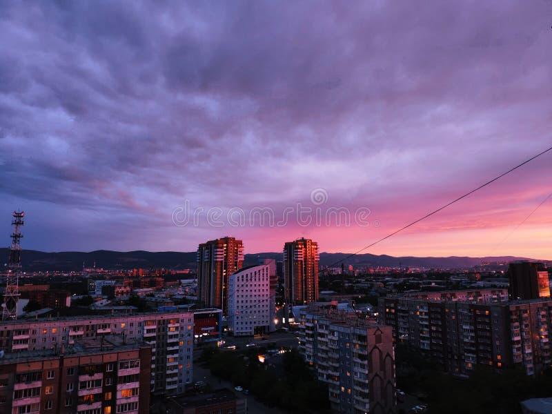 Beautiful afterglow. stock image