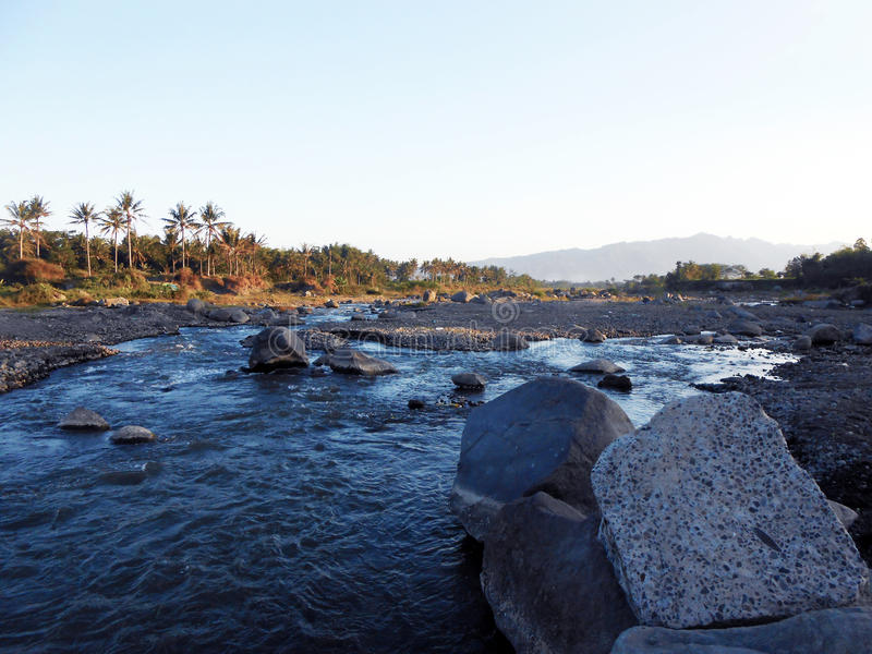 Beautiful Afternoon Blue River. Is taken at the pabelan, magelang, central java, Indonesia royalty free stock photos