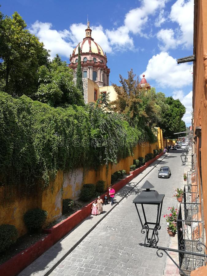 Beautiful afternoon in San Miguel stock image