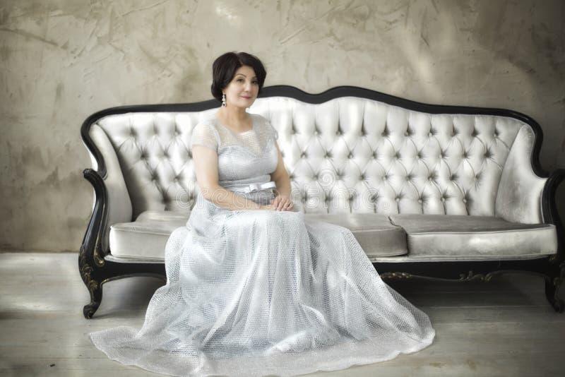 Beautiful aged asian woman stock photo