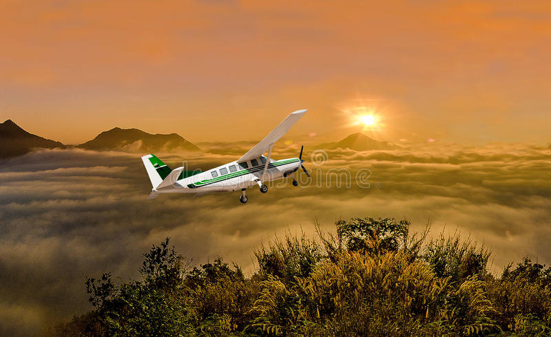 Beautiful airplane royalty free stock photo